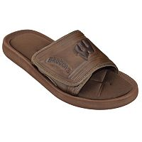 Adult Wisconsin Badgers Memory Foam Slide Sandals