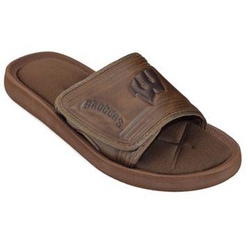 Adult Wisconsin Badgers Memory Foam Slide Sandals