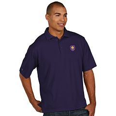 Men's Antigua Orlando City SC Xtra-Lite Desert-Dry Pique Performance Polo