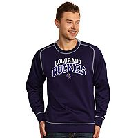 Men's Antigua Colorado Rockies Volt Fleece Pullover