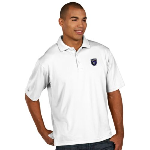 Men's Antigua San Jose Earthquakes Xtra-Lite Desert-Dry Pique Performance Polo