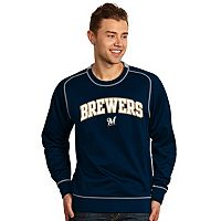 Men's Antigua Milwaukee Brewers Volt Fleece Pullover