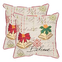Safavieh Holiday Bells 2-piece Throw Pillow Set
