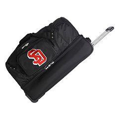 South Dakota Coyotes 26 in Wheeled Drop-Bottom Duffel Bag