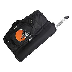 Cleveland Browns 26 in Wheeled Drop-Bottom Duffel Bag