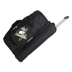 Pittsburgh Penguins 26 in Wheeled Drop-Bottom Duffel Bag