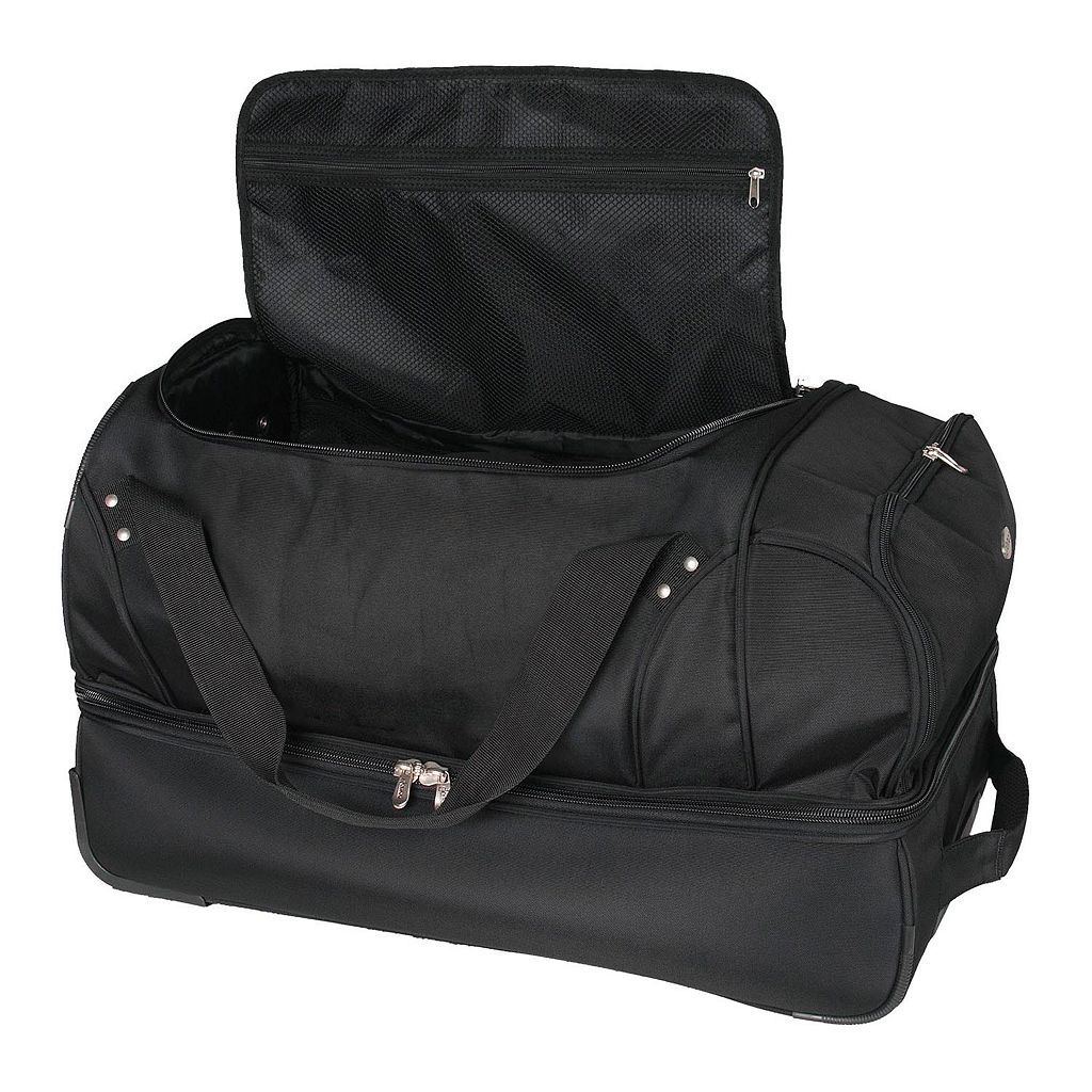 Pittsburgh Penguins 26-in. Wheeled Drop-Bottom Duffel Bag