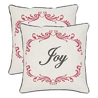 Safavieh ''Joy'' 2-piece Throw Pillow Set