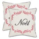 Safavieh ''Noel'' 2-piece Throw Pillow Set