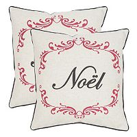 Safavieh ''Noel'' 2-piece Throw Pillow Set
