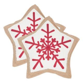 Safavieh Snowflake Cookie 2-piece Throw Pillow Set