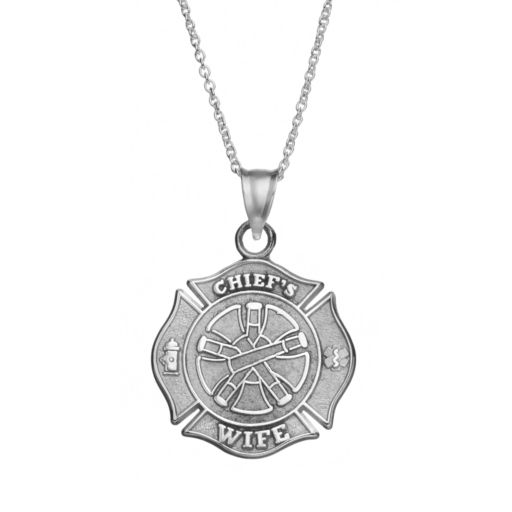 "Insignia Collection Sterling Silver ""Chief's Wife"" Maltese Cross Pendant Necklace"