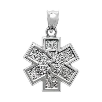 Insignia Collection Sterling Silver Star of Life Pendant
