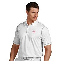 Men's Antigua New England Revolution Icon Desert-Dry Tonal-Striped Performance Polo