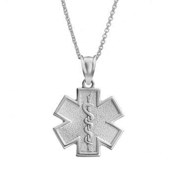 Insignia Collection Sterling Silver Star of Life Pendant Necklace