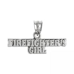 Insignia Collection Sterling Silver 'Firefighter's Girl' Pendant