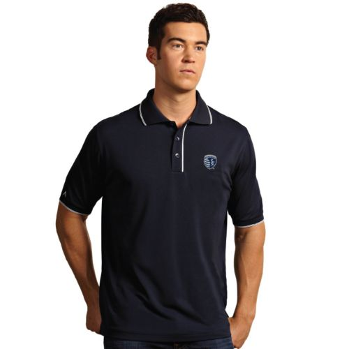 Men's Antigua Sporting Kansas City Elite Desert Dry Xtra-Lite Polo