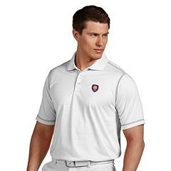 Men's Antigua Orlando City SC Icon Desert-Dry Tonal-Striped Performance Polo