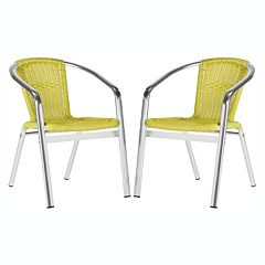 Safavieh Wrangell Indoor / Outdoor Stacking Chair 2-piece Set