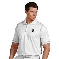 Men's Antigua San Jose Earthquakes Icon Desert-Dry Tonal-Striped Performance Polo