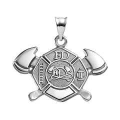 Insignia Collection Sterling Silver Cross & Axe Pendant