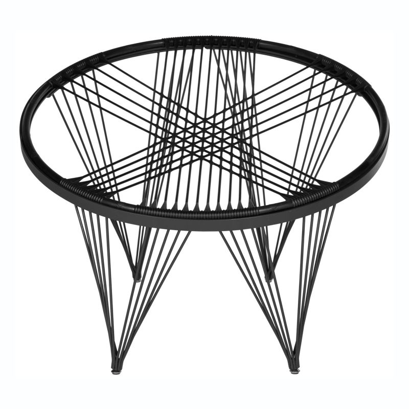 Safavieh Living Room Chairs Silicone Launchpad Chair in Black FOX9800E