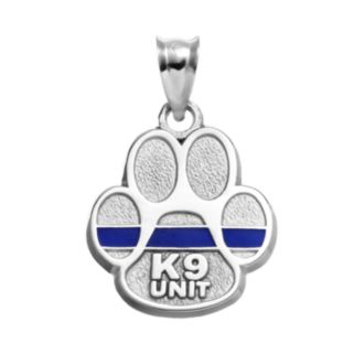 "Insignia Collection Sterling Silver ""K9 Unit"" Paw Pendant"