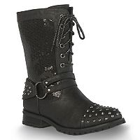 Gia-Mia Sequin Chic Women's Dance Moto Boots