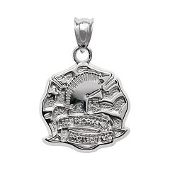 Insignia Collection Sterling Silver St. Florian Pendant
