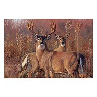 Reflective Art ''Fall Courtship'' Canvas Wall Art