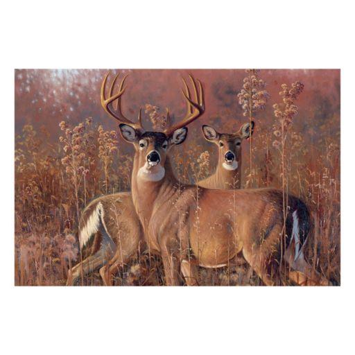 Reflective Art ''Fall Courtship'' Canvas Wall Art