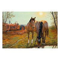Reflective Art ''Old Farm Hands'' Canvas Wall Art