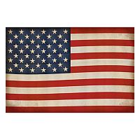 Reflective Art ''Old Glory'' Canvas Wall Art
