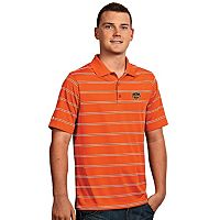 Men's Antigua Houston Dynamo Deluxe Striped Desert Dry Xtra-Lite Performance Polo