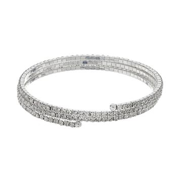 Simulated Crystal Coil Bracelet