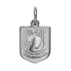 Insignia Collection Sterling Silver 'POW MIA' Pendant