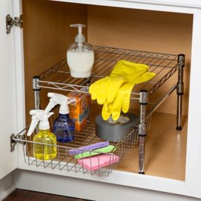 Honey-Can-Do Adjustable Roll-Out Cabinet Organizer