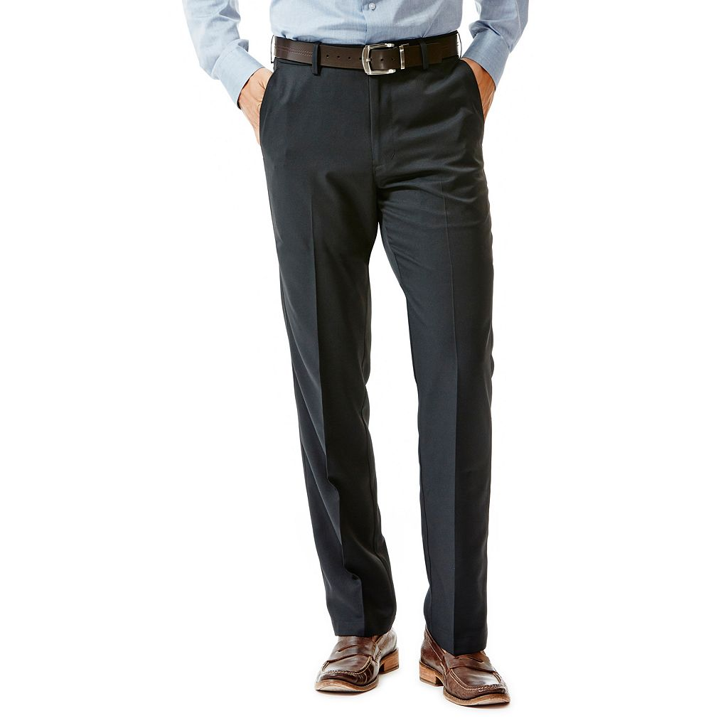 Big & Tall Haggar® Straight-Fit Performance Microfiber Slacks
