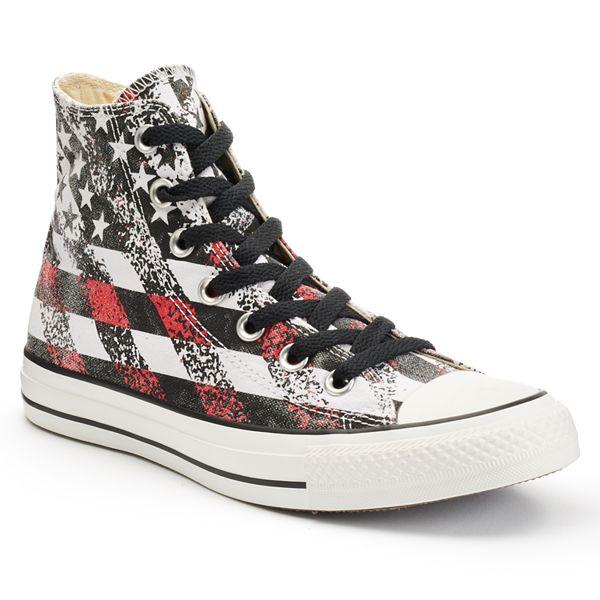 crítico Generosidad Vacilar  Adult Converse Chuck Taylor All Star American Flag High-Top Sneakers