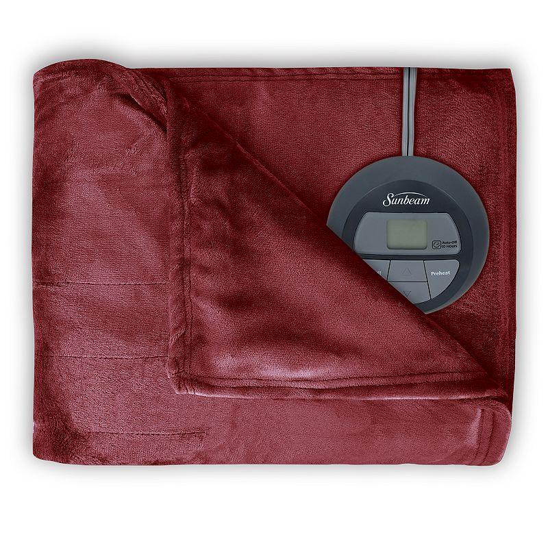 Sunbeam Slumber Rest Microplush Electric Blanket, Red -  BRM9KFS-R310-16A44
