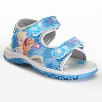 Disney's Frozen Anna & Elsa Girls' Light-Up Sport Sandals