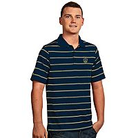 Men's Antigua Los Angeles Galaxy Deluxe Striped Desert Dry Xtra-Lite Performance Polo