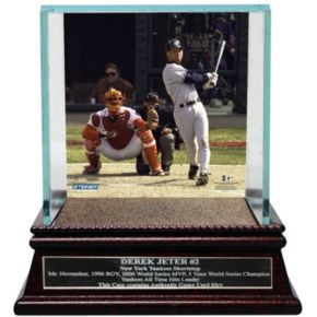 Steiner Sports New York Yankees Derek Jeter Moments First Career Home Run Baseball Case with Authentic Field Dirt