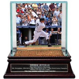 Steiner Sports New York Yankees Derek Jeter Moments 3,000th Career Hit Baseball Case with Authentic Field Dirt