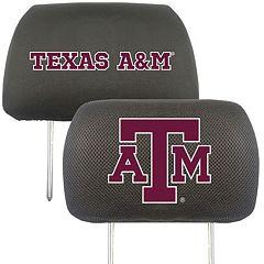 Texas A&M Aggies 2 pc Head Rest Covers