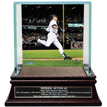 Steiner Sports New York Yankees Derek Jeter Moments Passing Gehrig Baseball Case with Authentic Field Dirt