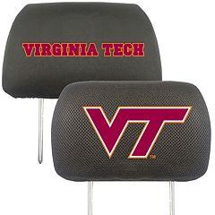 Virginia Tech Hokies 2 pc Head Rest Covers