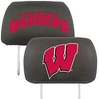 Wisconsin Badgers 2-pc. Head Rest Covers