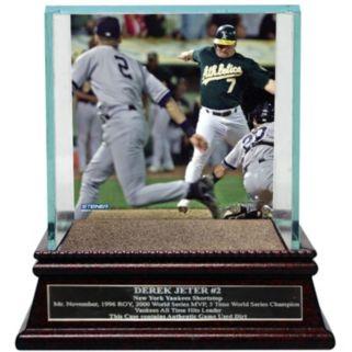 Steiner Sports New York Yankees Derek Jeter Moments The Flip Baseball Case with Authentic Field Dirt