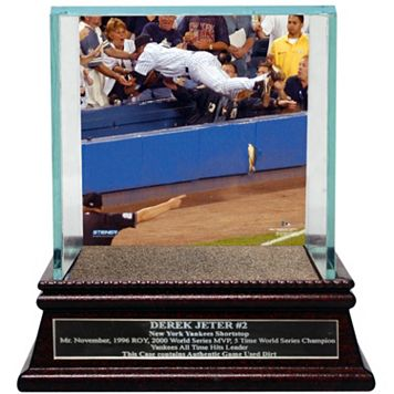 Steiner Sports New York Yankees Derek Jeter Moments The Dive Baseball Case with Authentic Field Dirt